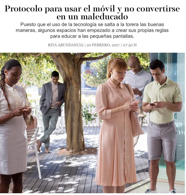Smoda el País Yolanda Protocolo Cursos