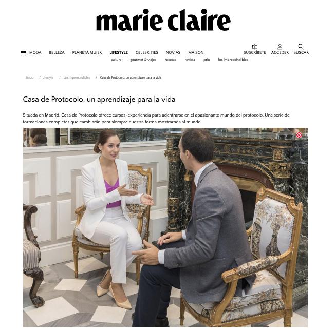 Marie Claire Curso de Protocolo